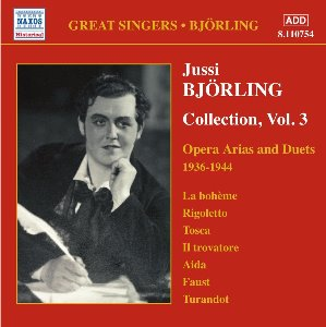 Jussi Bjorling / Bjorling Collection Vol.3, Opera Arias And Duets