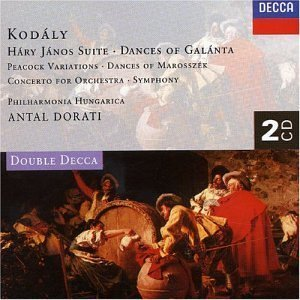 Antal Dorati / Kodaly : Hary Janos Suite. Peacock Variations, Symphony in C, Etc (2CD)